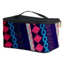 Purple And Pink Retro Geometric Pattern Cosmetic Storage Case View3