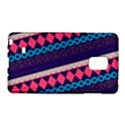 Purple And Pink Retro Geometric Pattern Galaxy Note Edge View1