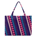 Purple And Pink Retro Geometric Pattern Medium Tote Bag View1