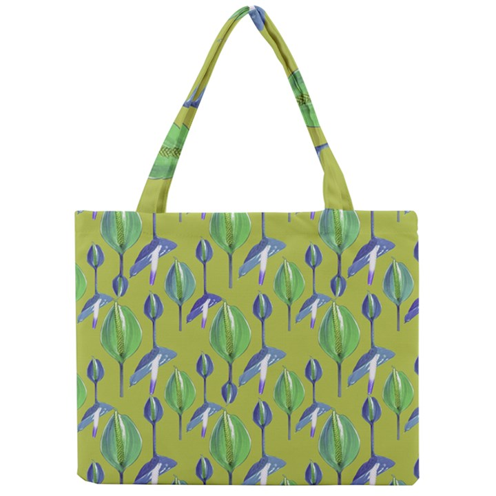Tropical Floral Pattern Mini Tote Bag