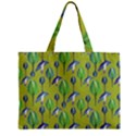 Tropical Floral Pattern Zipper Mini Tote Bag View2