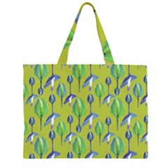 Tropical Floral Pattern Large Tote Bag