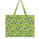 Tropical Floral Pattern Large Tote Bag View1