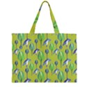 Tropical Floral Pattern Large Tote Bag View2