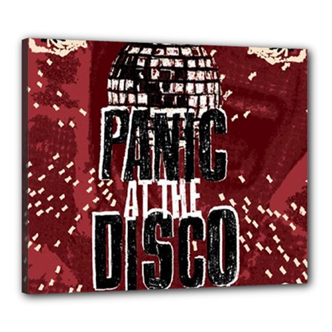 Panic At The Disco Poster Canvas 24  x 20