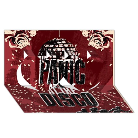 Panic At The Disco Poster Twin Hearts 3D Greeting Card (8x4)