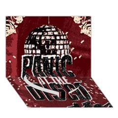 Panic At The Disco Poster Heart Bottom 3d Greeting Card (7x5)