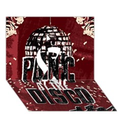Panic At The Disco Poster Ribbon 3D Greeting Card (7x5)