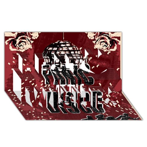 Panic At The Disco Poster Best Wish 3D Greeting Card (8x4)