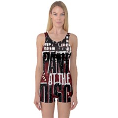Panic At The Disco Poster One Piece Boyleg Swimsuit