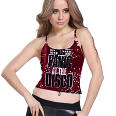 Panic At The Disco Poster Spaghetti Strap Bra Top