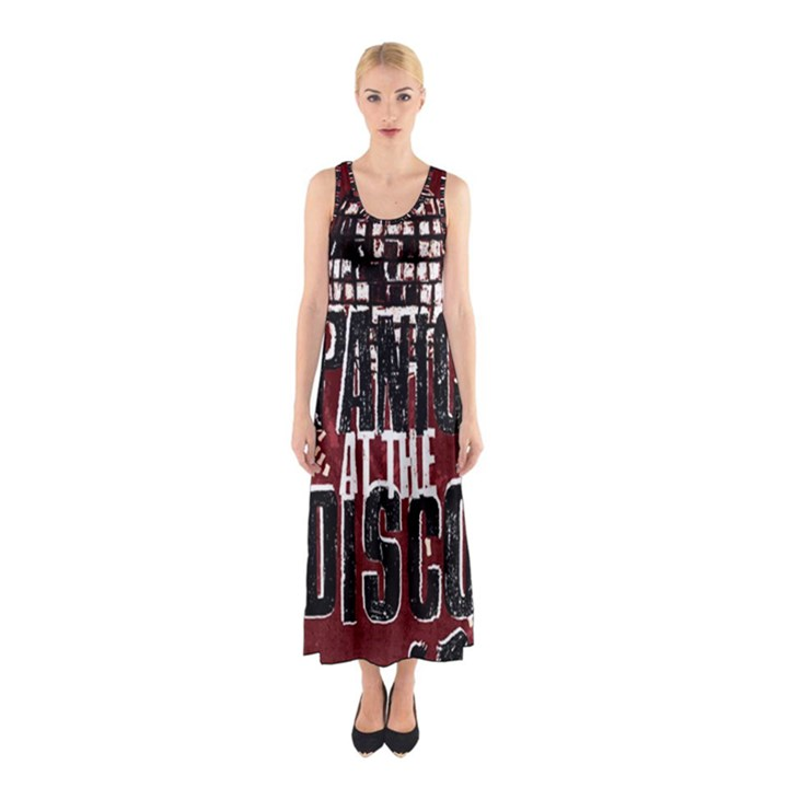 Panic At The Disco Poster Sleeveless Maxi Dress