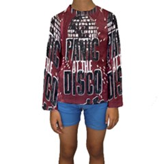 Panic At The Disco Poster Kids  Long Sleeve Swimwear