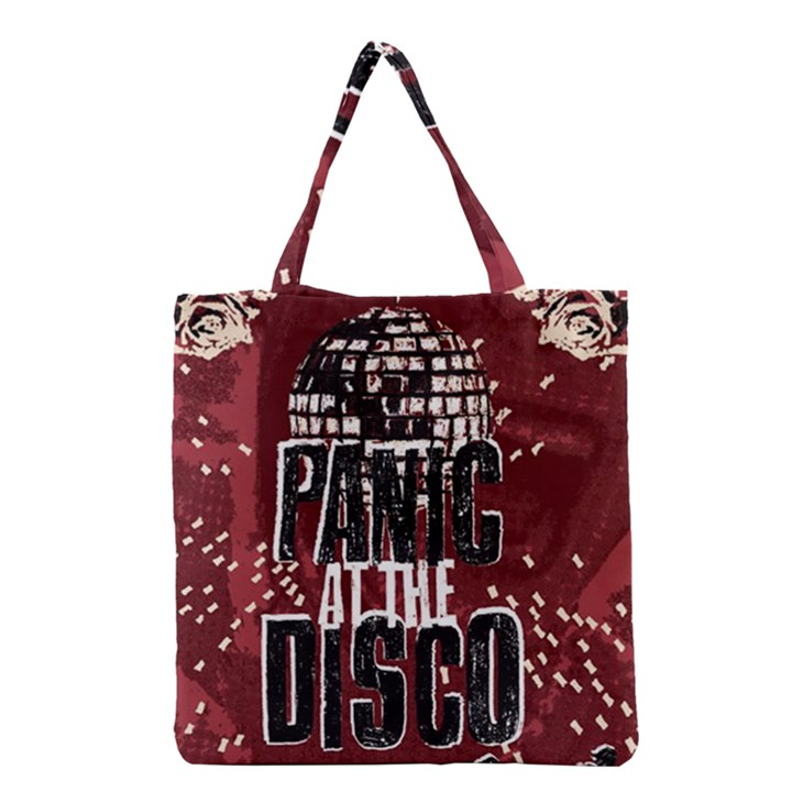 Panic At The Disco Poster Grocery Tote Bag