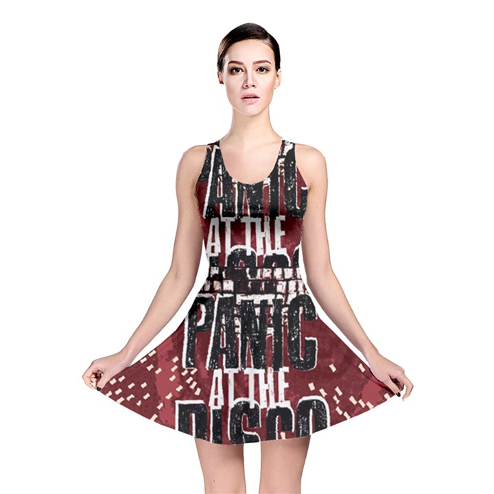 Panic At The Disco Poster Reversible Skater Dress