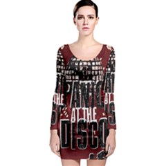 Panic At The Disco Poster Long Sleeve Bodycon Dress