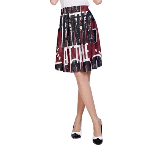 Panic At The Disco Poster A-Line Skirt