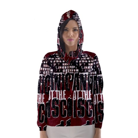 Panic At The Disco Poster Hooded Wind Breaker (Women)