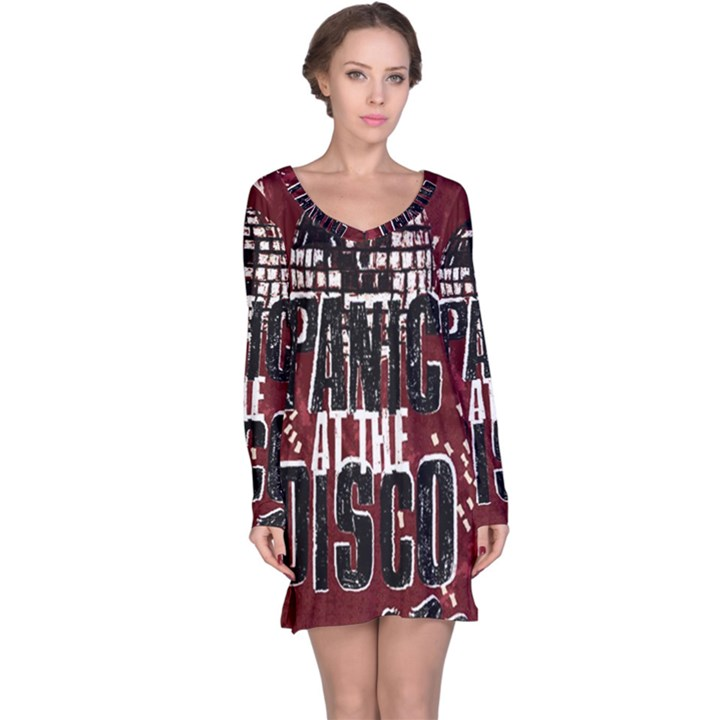 Panic At The Disco Poster Long Sleeve Nightdress