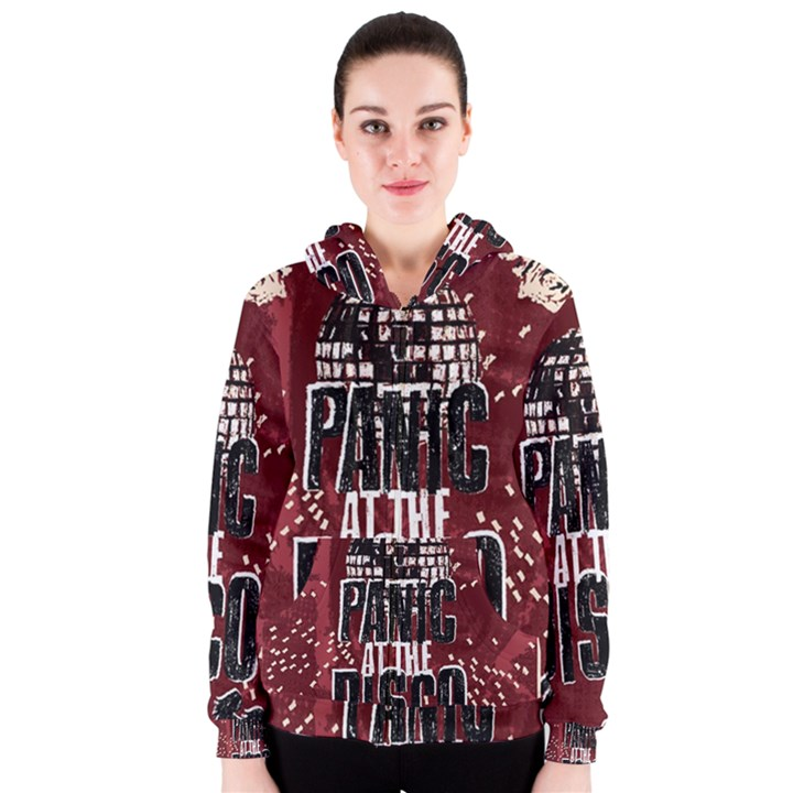 Panic At The Disco Poster Women s Zipper Hoodie