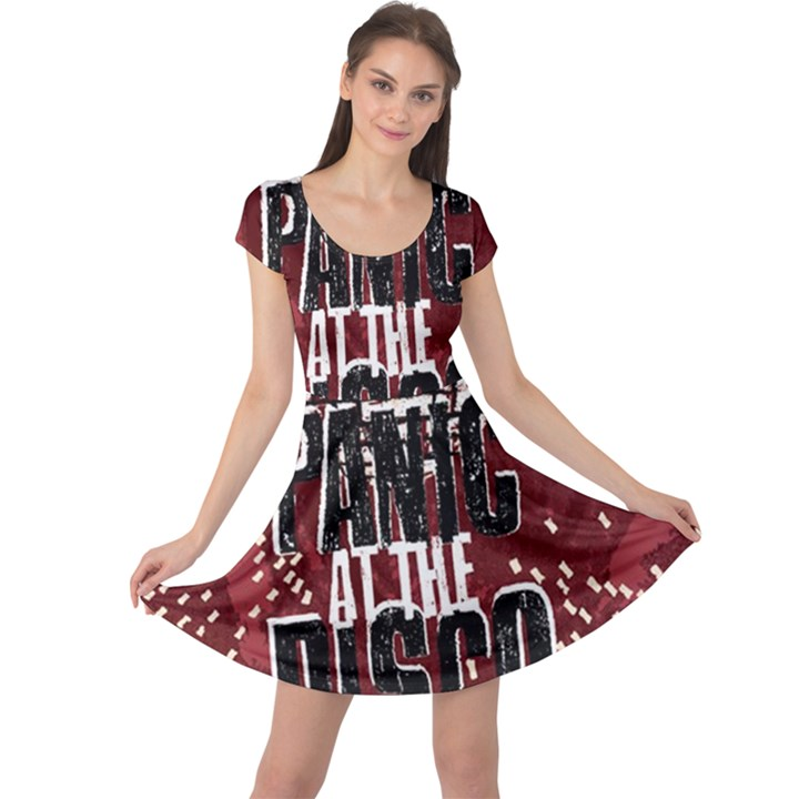 Panic At The Disco Poster Cap Sleeve Dresses
