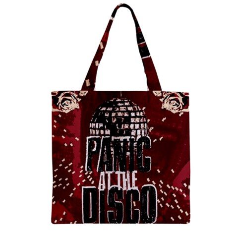 Panic At The Disco Poster Zipper Grocery Tote Bag