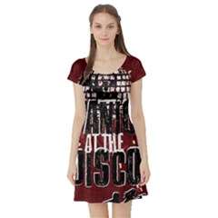 Panic At The Disco Poster Short Sleeve Skater Dress