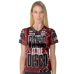 Panic At The Disco Poster Women s V-Neck Sport Mesh Tee