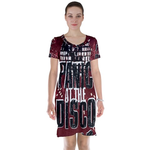 Panic At The Disco Poster Short Sleeve Nightdress