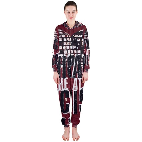 Panic At The Disco Poster Hooded Jumpsuit (Ladies)