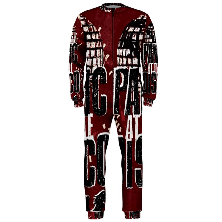 Panic At The Disco Poster OnePiece Jumpsuit (Men)