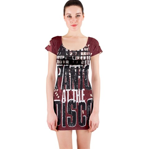 Panic At The Disco Poster Short Sleeve Bodycon Dress
