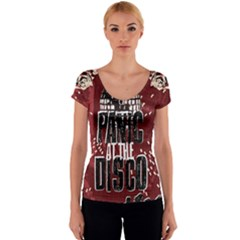 Panic At The Disco Poster Women s V-Neck Cap Sleeve Top