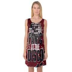 Panic At The Disco Poster Sleeveless Satin Nightdress