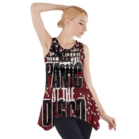 Panic At The Disco Poster Side Drop Tank Tunic