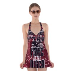 Panic At The Disco Poster Halter Swimsuit Dress
