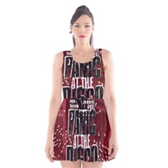 Panic At The Disco Poster Scoop Neck Skater Dress