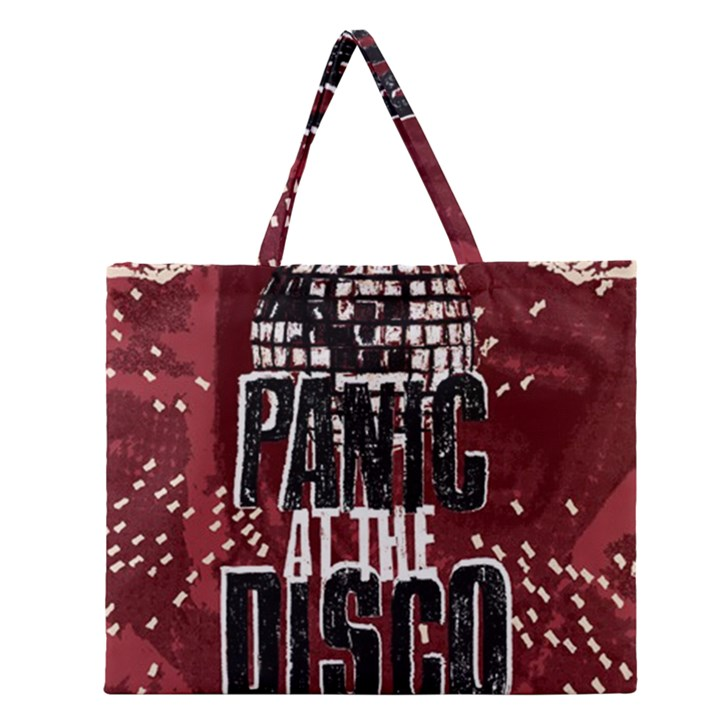 Panic At The Disco Poster Zipper Large Tote Bag