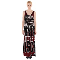 Panic At The Disco Poster Maxi Thigh Split Dress