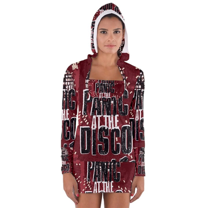 Panic At The Disco Poster Women s Long Sleeve Hooded T-shirt