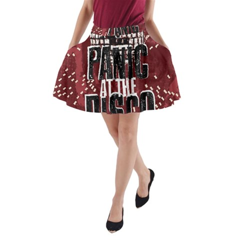 Panic At The Disco Poster A-Line Pocket Skirt