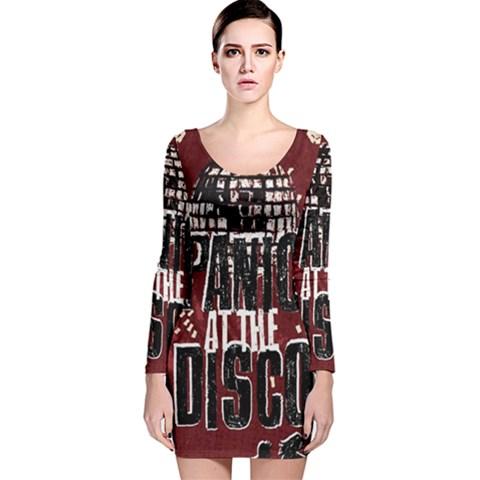 Panic At The Disco Poster Long Sleeve Velvet Bodycon Dress