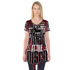 Panic At The Disco Poster Short Sleeve Tunic