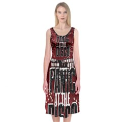 Panic At The Disco Poster Midi Sleeveless Dress