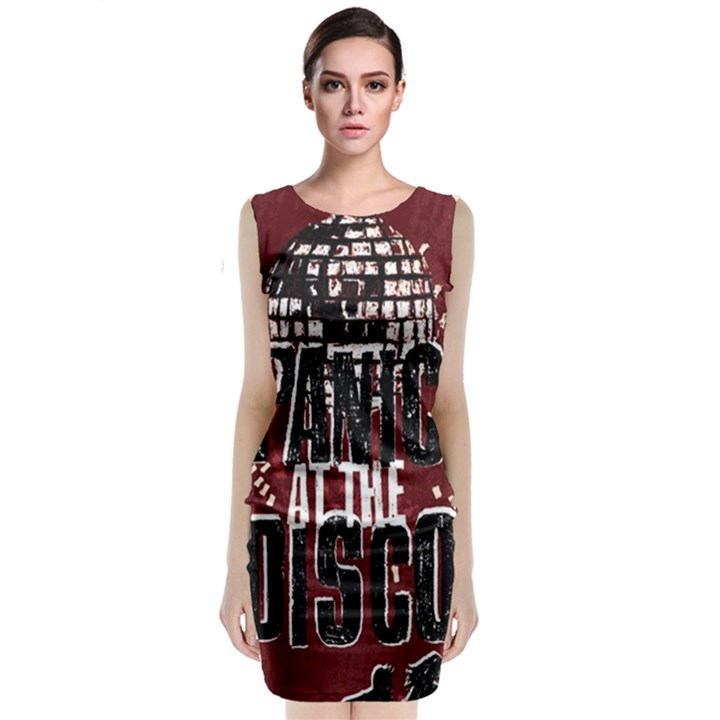 Panic At The Disco Poster Classic Sleeveless Midi Dress