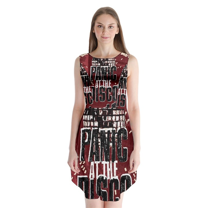 Panic At The Disco Poster Sleeveless Chiffon Dress
