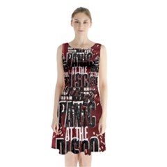 Panic At The Disco Poster Sleeveless Chiffon Waist Tie Dress