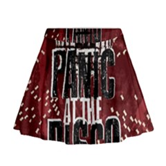 Panic At The Disco Poster Mini Flare Skirt
