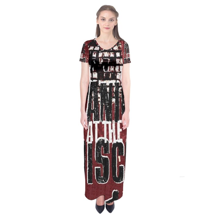 Panic At The Disco Poster Short Sleeve Maxi Dress