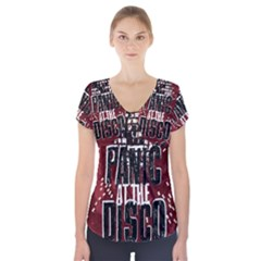 Panic At The Disco Poster Short Sleeve Front Detail Top